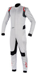 Alpinestars Super Tech Suit Silver Red